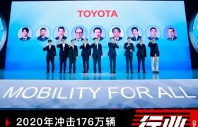 2020年冲击176万辆丰田在华萌发之年再拓工作地图